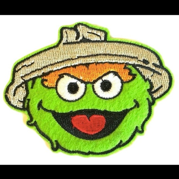 Oscar The Grouch Patch Iron On Patches Diy Badge Boutique